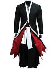 Bleach Ichigo Kurosaki Party Male Unifrom Halloween Black Kimono Cosplay Costume