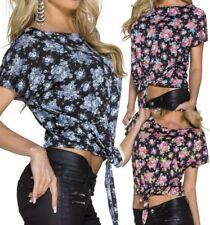 Sexy oversize señora camisa top negligencia S/M 34/36 L/XL 38/40 negro flores nuevo
