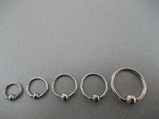 1X AURICLE, EAR RIM PIERCING BALL RING, BCR, CHOOSE SIZE 6MM,8MM,10MM,12MM,14MM