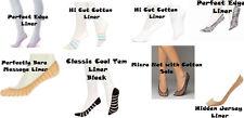Hue Women's Liner Socks Perfect Edge Hi Cut Cotton Micro Net Perfect Massage