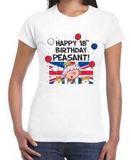Happy 18th Birthday Peasant Women's T-Shirt - Queen Union Jack Gift Present