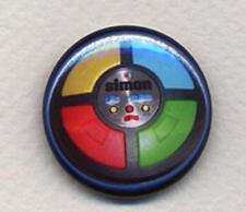 Simon Insignia botón Pin-Retro Cool! - 25mm Y 56mm Tamaño!