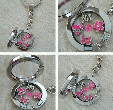 .....Nana Personalised Memory Locket Keyring Necklace Floating Charms Great Gift