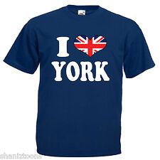 I Love Cuore York Adulti Da Uomo T Shirt 12 Colori Taglia S - 3XL
