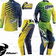 Thor 2015 Vented Rift Lime Green Race Jersey & Pants Kit Motocross Enduro ATV