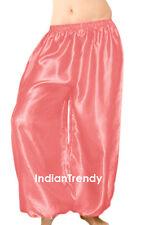 Salmon - Satin Harem Yoga Pant Belly Dance Costume Tribal Pantalons Trouser Boho