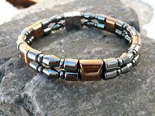 Men Women Double Magnetic Bracelet Anklet BLACK COPPER Magnetic Hematite STRONG