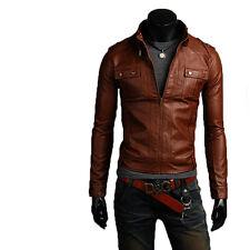 Giacca Giubbotto in Pelle Uomo Men Leather Jacket Veste Blouson Homme Cuir N11f