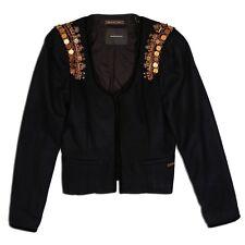 Maison Scotch Rock Inspired Fancy Blazer with Gold Tone Shoulder Decorations