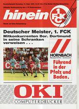 BL 91/92 1. FC Kaiserslautern - Borussia Dortmund