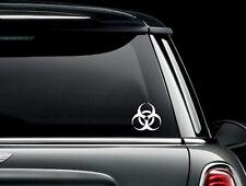 Bio Hazard Symbol Die Cut Vinyl Car Window Decal Bumper Sticker US Seller