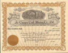 Canyon Coal Mining Idaho Falls stock certificate share