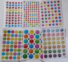 Children reward stickers teachers smiley Emoji face stars Smiling Sun, scrapbook