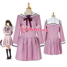 Noragami Hiyori Iki Purple Sailor School Uniform Cosplay Uniform Dress Outfit