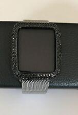EMJ Series1,2,3 Apple Watch Bezel Bling Black Zirconia Watch Insert Face 38/42mm