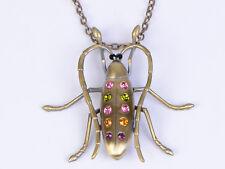 Cadena De Oro Aleación Multicolores Collar Colgante Gótico Joyas de Cristal Escorpión