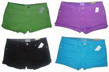Womens AEROPOSTALE rolled-cuff Colored Denim Shorty Shorts NWT #0378