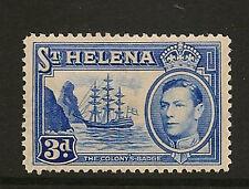 ST HELENA : 1938 GVI 3d ultramarine SG135 mint
