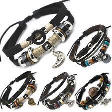 TIBET SERIE 2! Leder Armband Bracelet Leather Unisex!Surferarmband Herren Damen