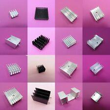 Piccolo dissipatore di Calore Radiatore in Alluminio Nero, Argento, Oro Chip IC di Raffreddamento Dissipatore di calore