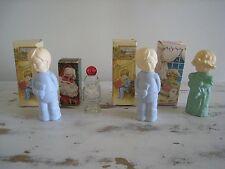 Vintage AVON Bottles Decanters Sweet Dreams, Little Dream Girl Jolly Santa