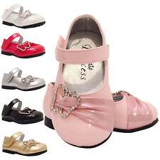bébé filles Baptême Mariage Demoiselle Chaussures de fête 9-12 12-18 18- 24 mois