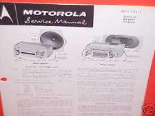 1960 BUICK ELECTRA PONTIAC BONNEVILLE CONVERTIBLE MOTOROLA RADIO SERVICE MANUAL