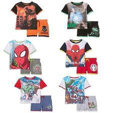 Niños Spiderman Avengers Star Wars manga corta camiseta y pantalones cortos