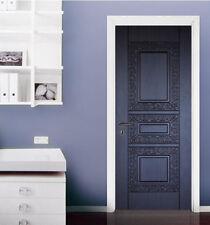 3D blue Door Wall Mural Photo Wall Sticker Decal Wall AJ WALLPAPER CA
