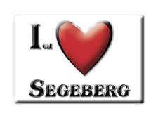 DEUTSCHLAND SOUVENIR KÜHLSCHRANKMAGNET FRIDGE MAGNET ICH LIEBE I LOVE SEGEBERG