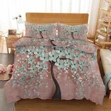 Black Pink Tree 3D Printing Duvet Quilt Doona Covers Pillow Case Bedding Sets