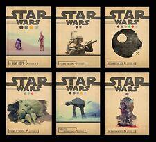 STAR WARS JEDI Minimal Vintage Alternative Movie A3 A4 Posters BUY 1 GET 2 FREE