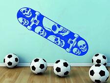 Patineta Skate Candy Azúcar Calavera Esqueleto Decoración De Vinilo Pared Adhesivo Sports