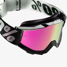 2018 100% PORCENTAJE Accuri Motocross Mx Gafas Negras Tornado Rosa Espejo/Claro