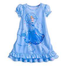 Disney Store Princess Cinderella Short Sleeve Nightgown Pajama Girl Size 5/6