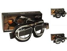 Mil-Tec Fliegerbrille Typ RAF Metall Brille Pilotenbrille Schwarz Chrom