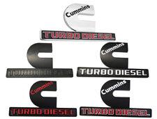2 Pack Turbo Diesel Cummins Emblems 3D Decal Badge Ram 2500 3500 Nameplate Mopar