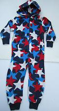 prochain polaire rouge blanc et bleu étoile pyjamas Tout-en-un Costume Ages 3-16