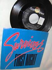 SURVIVOR-FIRST NIGHT/FEELS LIKE LOVE M- rock 45+PS