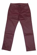 B. C. Mujer Moda 7/8 Pantalón Stretch Pantalones Elásticos CHINOS Burdeos 030700