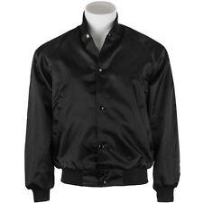 Satin Jacket: Black retro blank car club