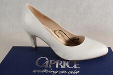 Caprice Zapatos De Tacón Zapatillas de Bailarina Blanco Cuero Auténtico