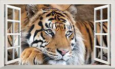 Magic Window Tiger Wall Art Self Adhesive Sticker Decal Print Graphic Poster