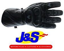 FRANK THOMAS FT-27 CAT 2 MOTORCYCLE GLOVES MOTORBIKE GLOVE BLACK CE APPROVED J&S