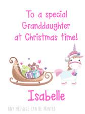 UNICORNO Personalizzato Saluti Carta Babbo Natale Babbo Natale NIPOTE CUGINO