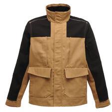 Regatta Jacket Mens Workline Work Heavy Duty Hardwear Working Tough Mid Brown