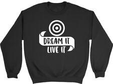 Dream it Live it Archery Mens Womens Ladies Unisex Sweatshirt