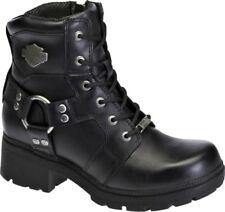 NEW Harley-Davidson® Women's JOCELYN Black Leather Motorcycle Boots D83775