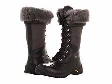UGG Australia Womens Adirondack Tall Black 5498 -BLK Sheepskin Snow Boots*RARE*