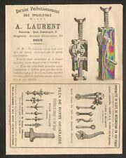 """PARIS (XI°) FONTE & FER Forgé / CRIC EPYCICLOIDALE , CLES & FLECHES """"A. LAURENT"""""""